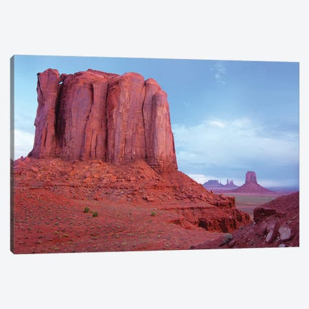 Elephant Butte From North Window Viewpoint, Monument Valley, Arizona 3-Piece Canvas #TFI339} by Tim Fitzharris Canvas Art