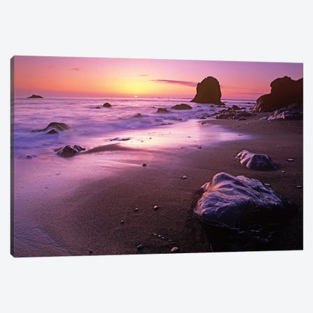 Enderts Beach At Sunset, Redwood National Park, California Canvas Print #TFI347} by Tim Fitzharris Canvas Wall Art