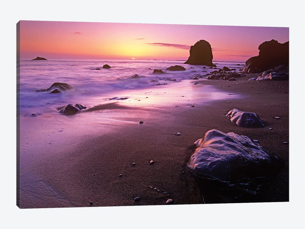 Enderts Beach At Sunset, Redwood National Park, California by Tim Fitzharris 1-piece Canvas Print