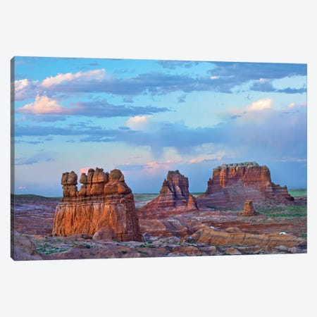 Eroded Buttes In Desert, Bryce Canyon National Park, Utah 3-Piece Canvas #TFI349} by Tim Fitzharris Canvas Print