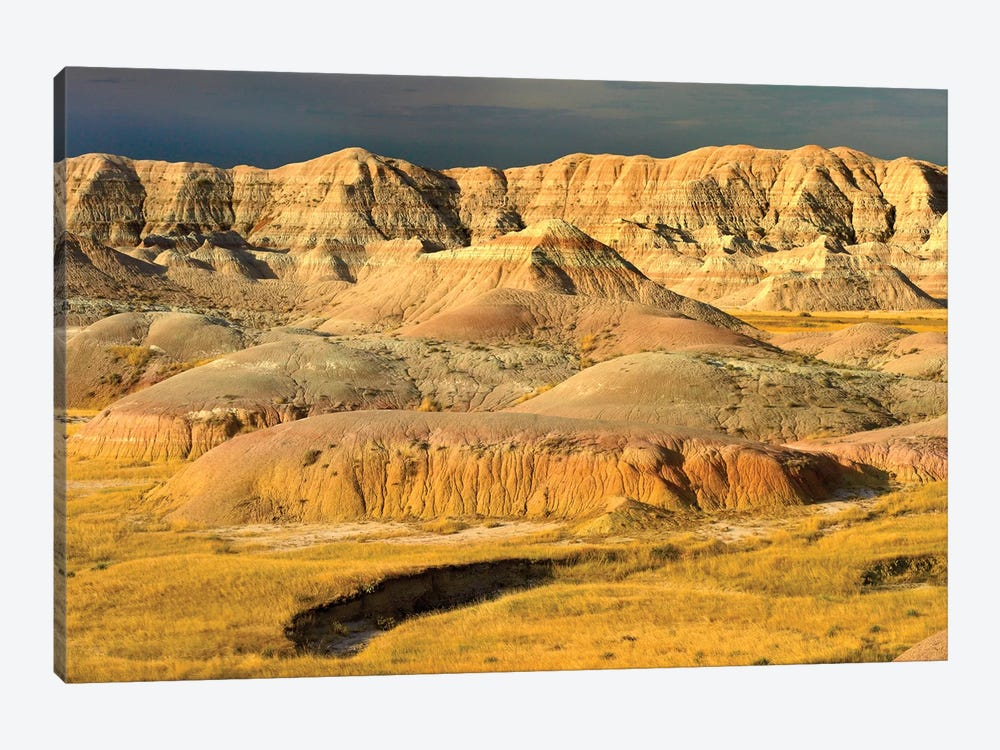 Eroded Buttes Showing Layers Of Sedimentary Rock, Badlands National Park, South Dakota by Tim Fitzharris 1-piece Art Print