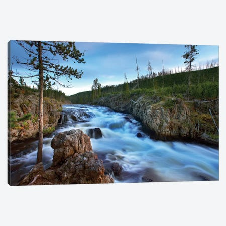 Firehole River, Yellowstone National Park, Wyoming Canvas Print #TFI366} by Tim Fitzharris Canvas Artwork