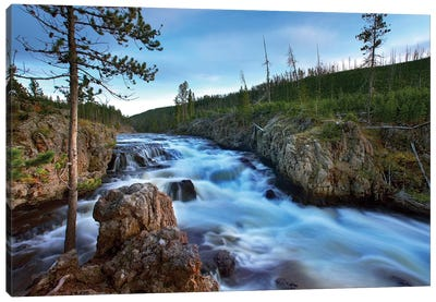 Firehole River, Yellowstone National Park, Wyoming Canvas Art Print