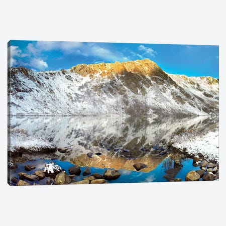 Geissler Mountain Reflected In Linkins Lake, Colorado Canvas Print #TFI389} by Tim Fitzharris Art Print