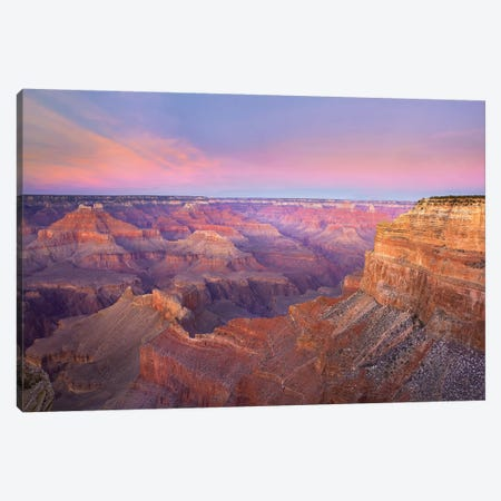 Grand Canyon As Seen From Mohave Point At Sunset, Grand Canyon National Park, Arizona Canvas Print #TFI399} by Tim Fitzharris Canvas Artwork