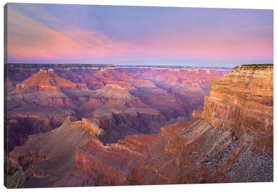Grand Canyon As Seen From Mohave Point At Sunset, Grand Canyon National Park, Arizona Canvas Art Print
