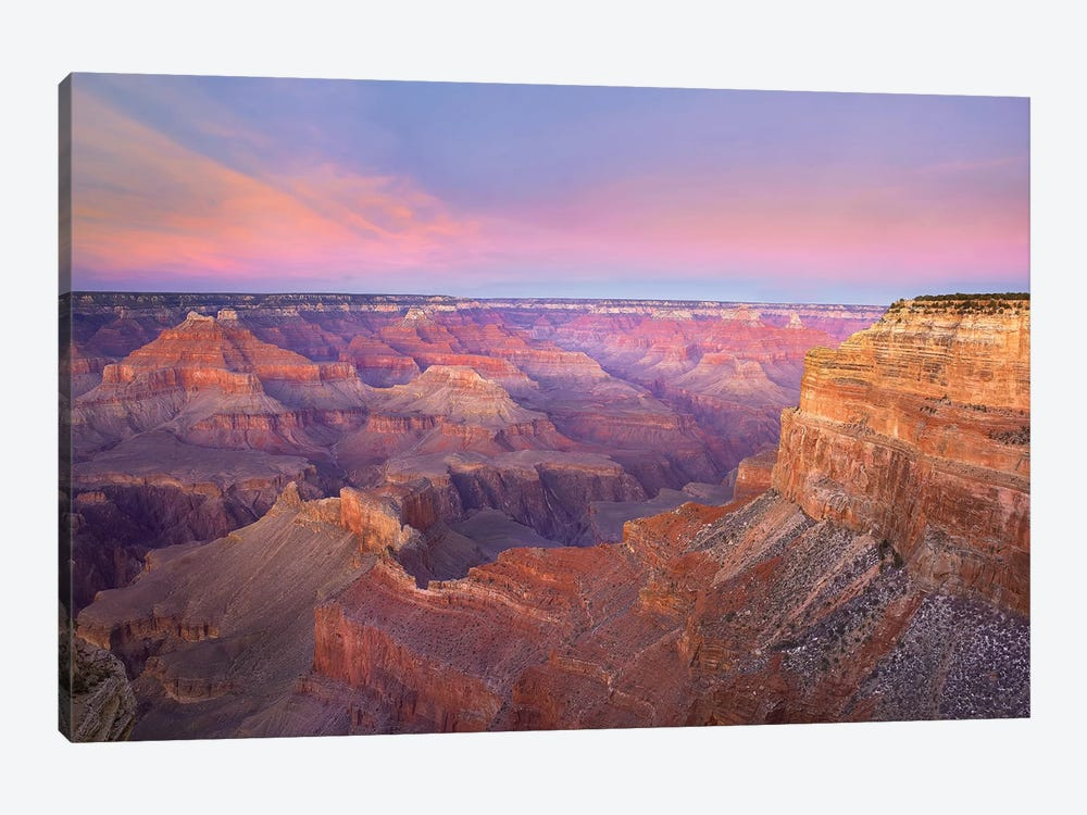 Grand Canyon As Seen From Mohave Point At Sunset, Grand Canyon National Park, Arizona by Tim Fitzharris 1-piece Canvas Wall Art