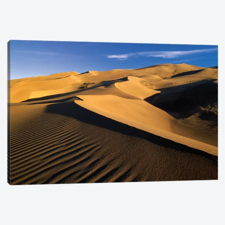 750' Sand Dunes, Tallest In North America, Great Sand Dunes National Monument, Colorado Canvas Print #TFI3} by Tim Fitzharris Canvas Art