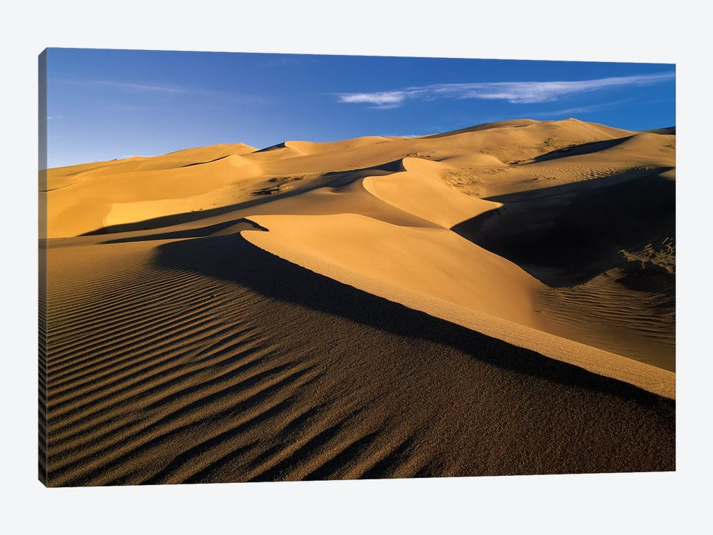 750' Sand Dunes, Tallest In North America, Great Sand Dunes National Monument, Colorado by Tim Fitzharris 1-piece Canvas Print