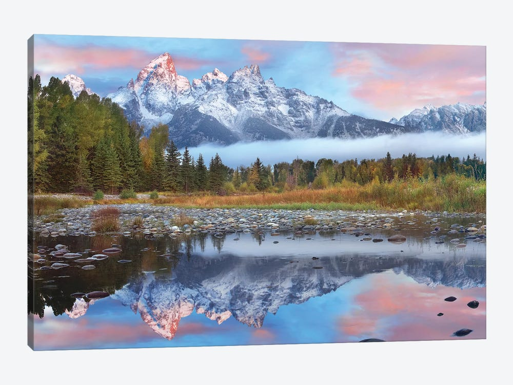 Grand Tetons Reflected In Lake, Grand Teton National Park, Wyoming I by Tim Fitzharris 1-piece Canvas Print