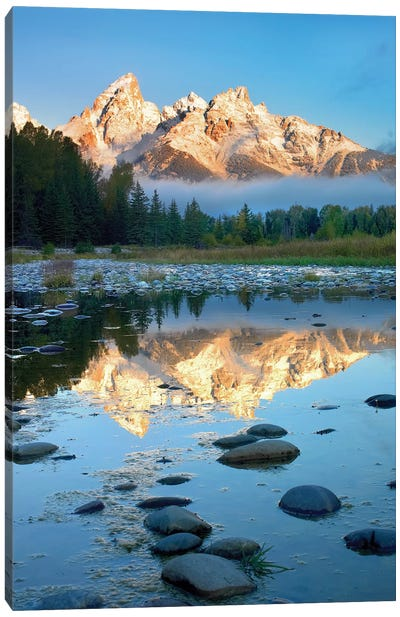 Grand Tetons Reflected In Lake, Grand Teton National Park, Wyoming II Canvas Art Print