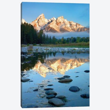Grand Tetons Reflected In Lake, Grand Teton National Park, Wyoming II Canvas Print #TFI407} by Tim Fitzharris Canvas Print