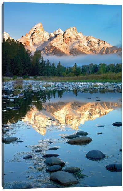 Grand Tetons Reflected In Lake, Grand Teton National Park, Wyoming II Canvas Art Print