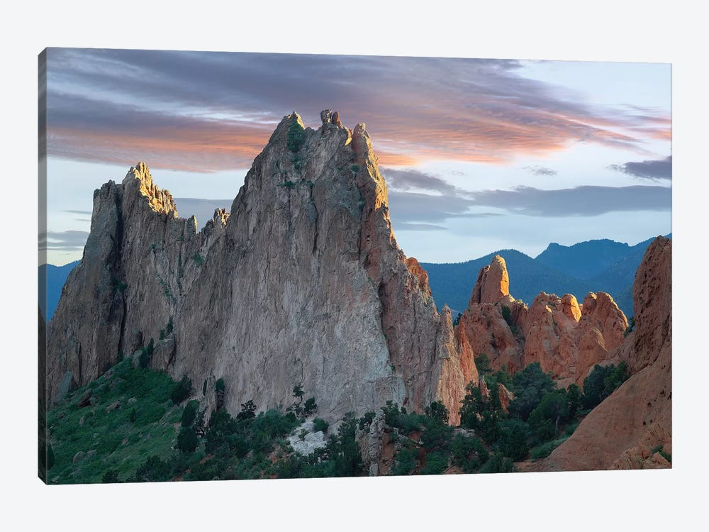 Gray Rock And South Gateway Rock, Conglomerate Sandstone Formations, Garden Of The Gods, Colorado Springs, Colorado III by Tim Fitzharris 1-piece Canvas Artwork