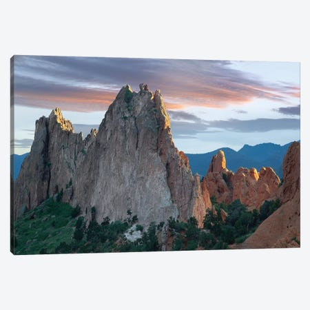 Gray Rock And South Gateway Rock, Conglomerate Sandstone Formations, Garden Of The Gods, Colorado Springs, Colorado III Canvas Print #TFI414} by Tim Fitzharris Canvas Wall Art