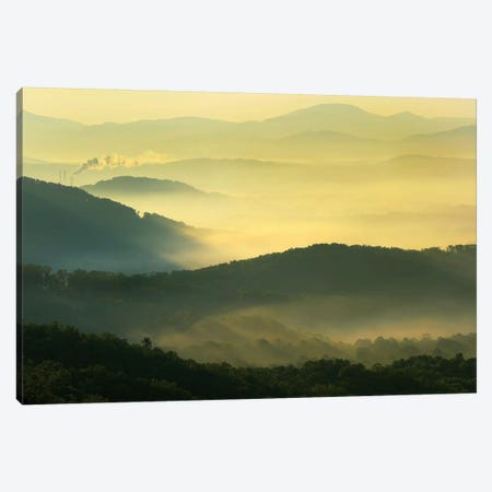 Appalachian Mountains From Doughton Park, Blue Ridge Parkway, North Carolina I Canvas Print #TFI43} by Tim Fitzharris Canvas Art