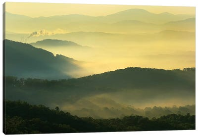 Appalachian Mountains From Doughton Park, Blue Ridge Parkway, North Carolina I Canvas Art Print