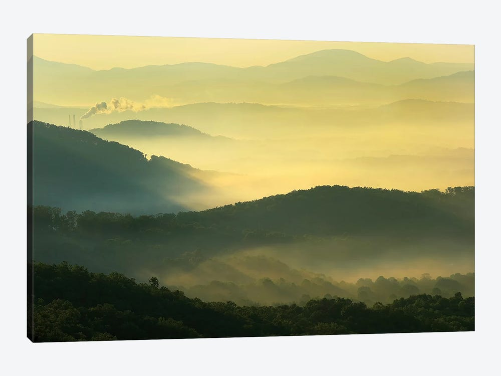Appalachian Mountains From Doughton Park, Blue Ridge Parkway, North Carolina I 1-piece Canvas Art Print