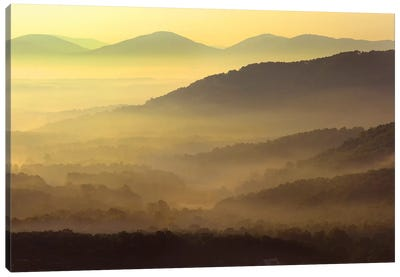 Appalachian Mountains From Doughton Park, Blue Ridge Parkway, North Carolina II Canvas Art Print