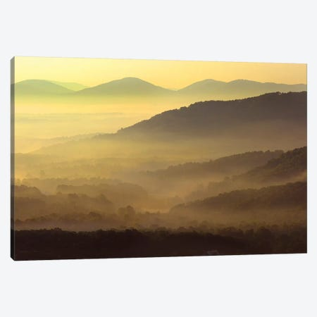 Appalachian Mountains From Doughton Park, Blue Ridge Parkway, North Carolina II Canvas Print #TFI44} by Tim Fitzharris Art Print