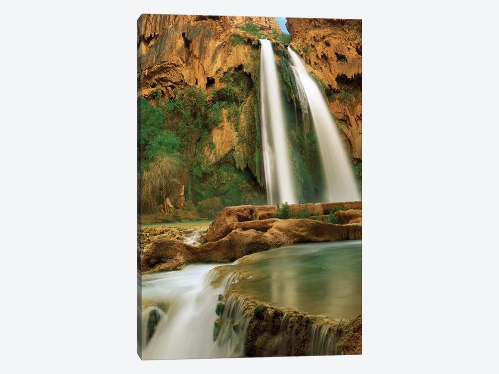 Havasu Creek Being Fed By One Of Its Three Cascades, Havasu Falls, Grand Canyon, Arizona by Tim Fitzharris 1-piece Art Print