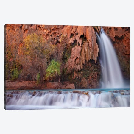 Havasu Falls, Grand Canyon, Arizona I Canvas Print #TFI456} by Tim Fitzharris Canvas Art