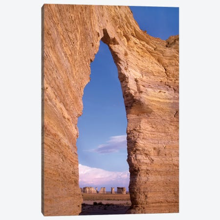 Arch In Monument Rocks National Landmark, Kansas I Canvas Print #TFI45} by Tim Fitzharris Art Print