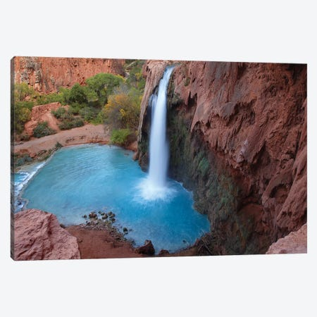 Havasu Falls, Grand Canyon, Arizona VII Canvas Print #TFI462} by Tim Fitzharris Canvas Artwork
