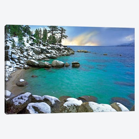 Hidden Beach And Memorial Point, Lake Tahoe, Nevada Canvas Print #TFI466} by Tim Fitzharris Art Print
