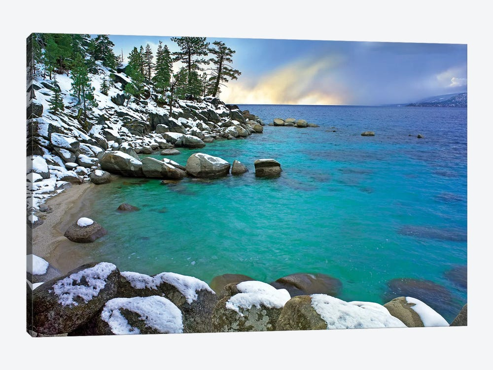 Hidden Beach And Memorial Point, Lake Tahoe, Nevada by Tim Fitzharris 1-piece Canvas Print