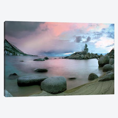 Hidden Beach At Sunset, Lake Tahoe, Nevada Canvas Print #TFI467} by Tim Fitzharris Canvas Print