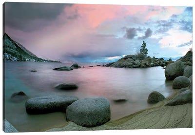 Hidden Beach At Sunset, Lake Tahoe, Nevada Canvas Art Print