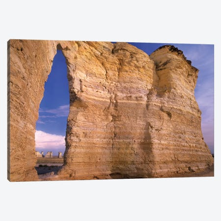 Arch In Monument Rocks National Landmark, Kansas II Canvas Print #TFI46} by Tim Fitzharris Canvas Print