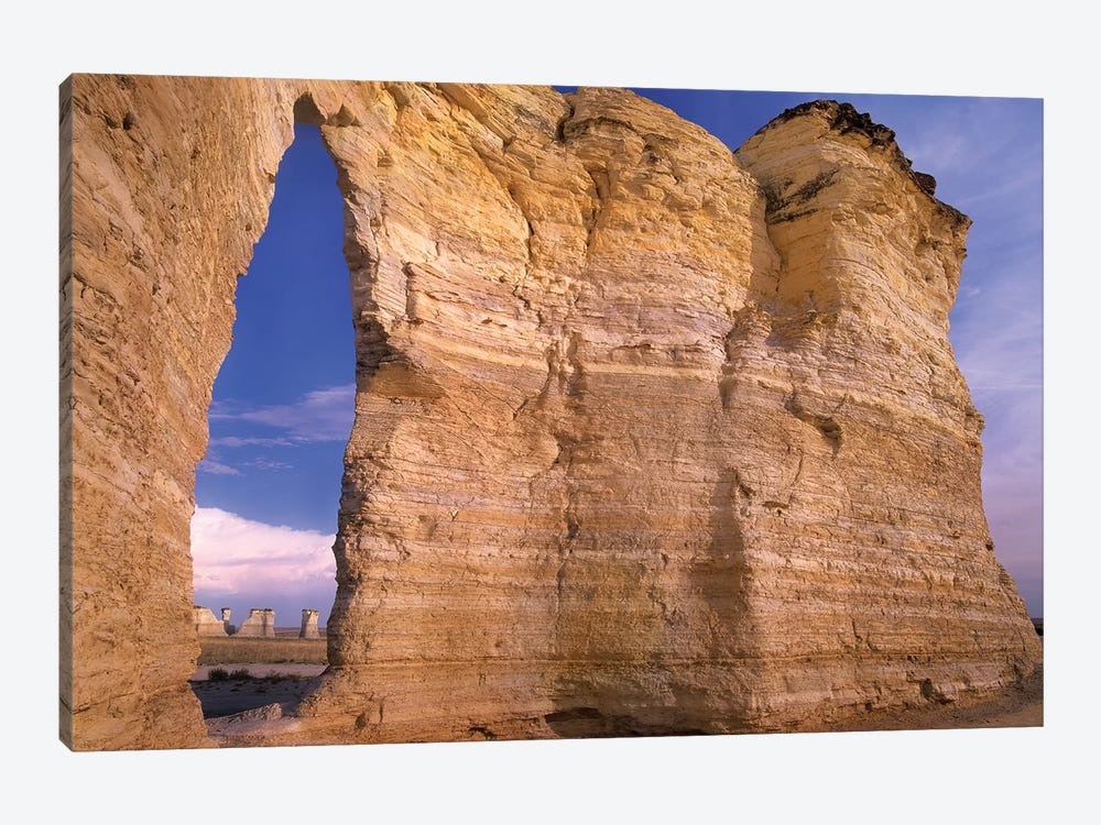 Arch In Monument Rocks National Landmark, Kansas II by Tim Fitzharris 1-piece Canvas Wall Art