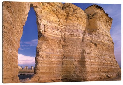 Arch In Monument Rocks National Landmark, Kansas II Canvas Art Print