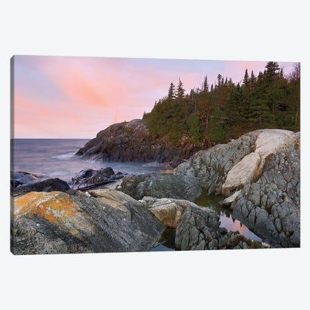 Horseshoe Bay On Lake Superior, Pukaskwa National Park, Thunder Bay, Ontario, Canada Canvas Print #TFI470} by Tim Fitzharris Art Print