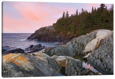 Horseshoe Bay On Lake Superior, Pukaskwa National Park, Thunder Bay, Ontario, Canada Canvas Art Print
