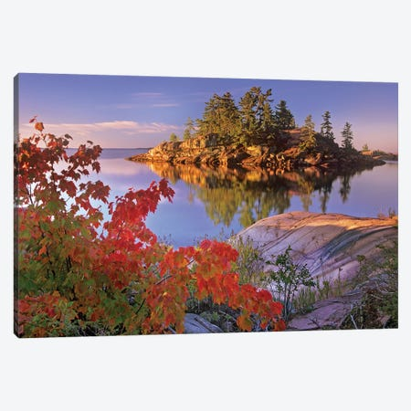 Island In Georgian Bay, Lake Huron, Killarney Provincial Park, Ontario, Canada Canvas Print #TFI483} by Tim Fitzharris Canvas Wall Art