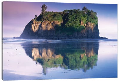 Abbey Island Looms Over Ruby Beach, Olympic National Park, Washington Canvas Art Print