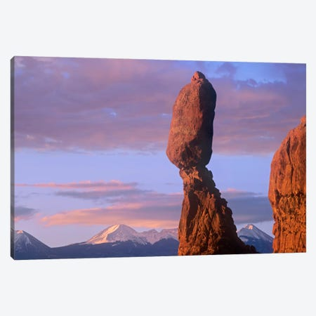 La Sal Mountains And Balanced Rock, Arches National Park, Utah Canvas Print #TFI500} by Tim Fitzharris Canvas Art Print