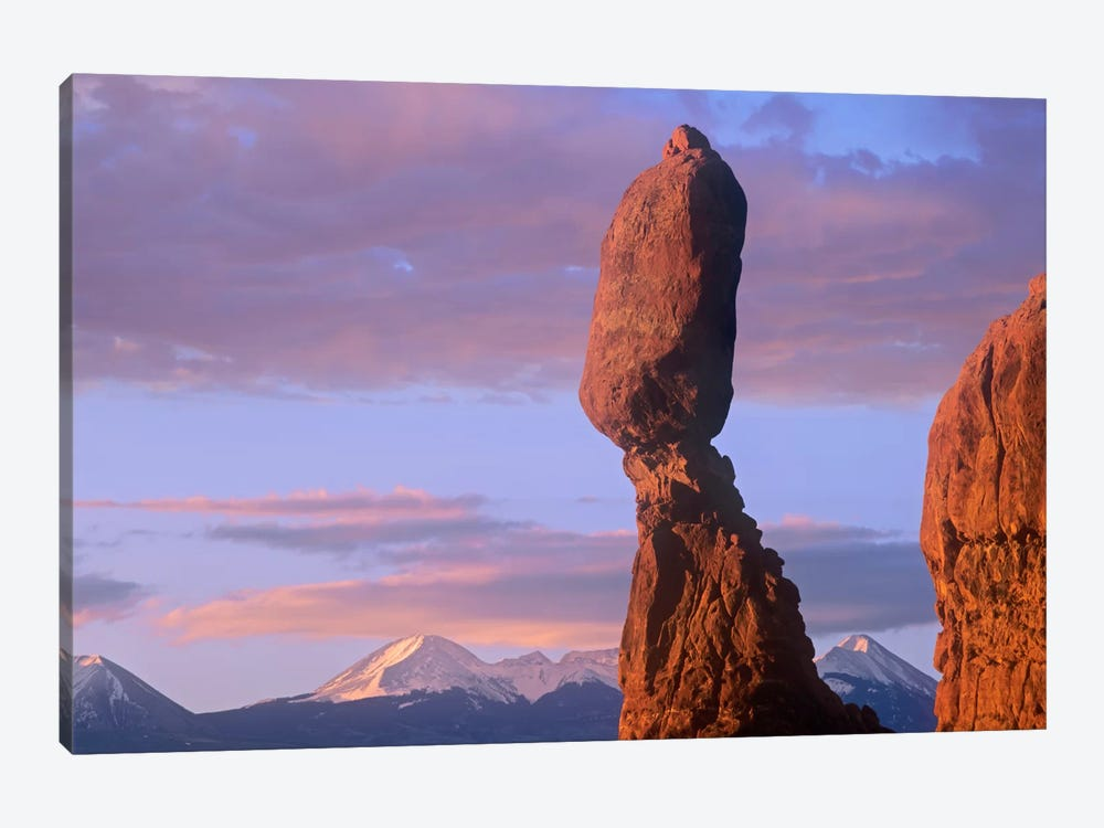 La Sal Mountains And Balanced Rock, Arches National Park, Utah by Tim Fitzharris 1-piece Canvas Artwork