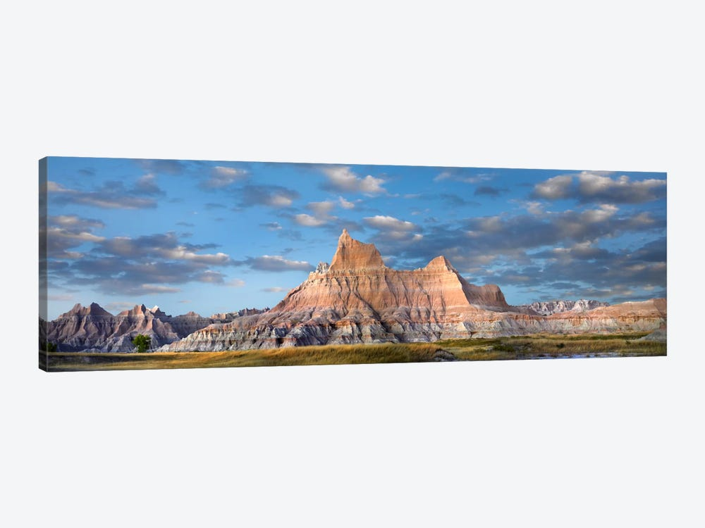 Landscape Showing Erosional Features In Sandstone, Badlands National Park, South Dakota by Tim Fitzharris 1-piece Canvas Print