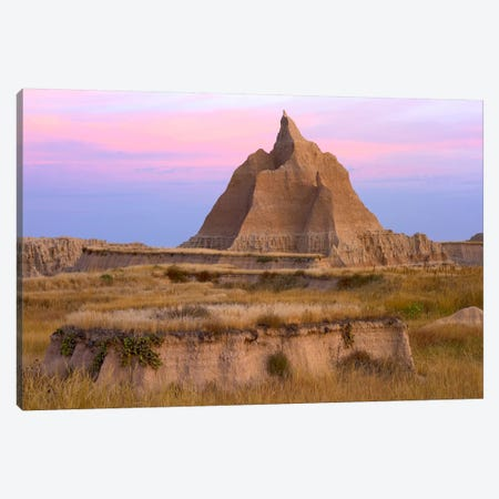 Landscape Showing Erosional Features With Grassland, Badlands National Park, South Dakota Canvas Print #TFI508} by Tim Fitzharris Canvas Art Print