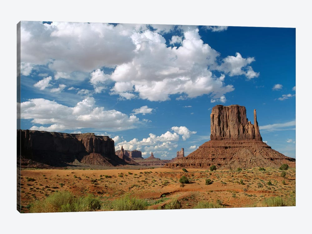 Landscape View, Monument Valley Navajo Tribal Park, Arizona by Tim Fitzharris 1-piece Canvas Print
