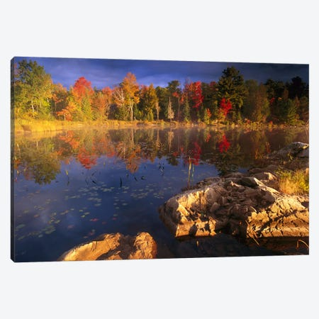 Lang Lake, Fall Colors, Ontario, Canada Canvas Print #TFI510} by Tim Fitzharris Canvas Art