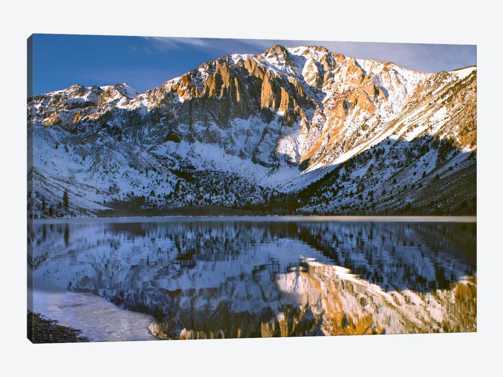 Laurel Mountain And Convict Lake In Winter, Eastern Sierra Nevada, California by Tim Fitzharris 1-piece Canvas Art