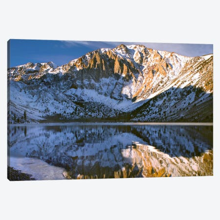 Laurel Mountain And Convict Lake In Winter, Eastern Sierra Nevada, California Canvas Print #TFI519} by Tim Fitzharris Canvas Wall Art