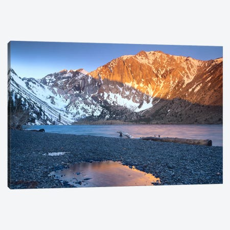 Laurel Mountain Dusted With Snow Overlooking Convict Lake, Sierra Nevada, California Canvas Print #TFI520} by Tim Fitzharris Canvas Art Print