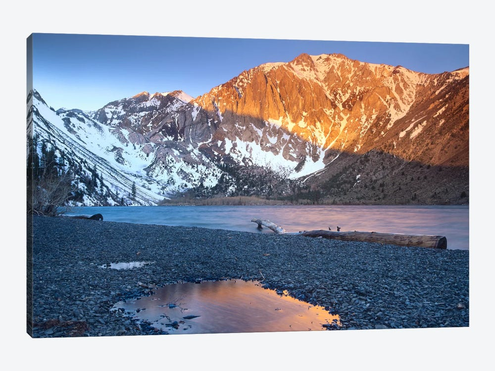 Laurel Mountain Dusted With Snow Overlooking Convict Lake, Sierra Nevada, California by Tim Fitzharris 1-piece Canvas Wall Art