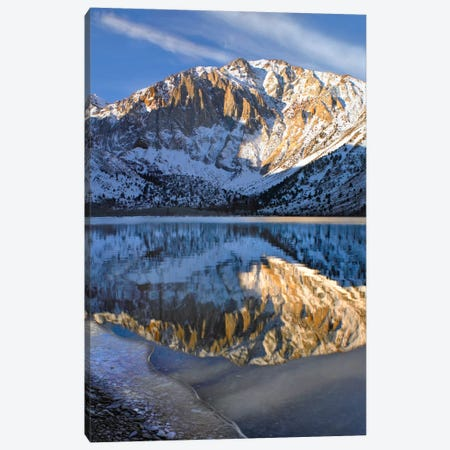 Laurel Mountain Reflected In Convict Lake, Eastern Sierra Nevada, California I Canvas Print #TFI521} by Tim Fitzharris Canvas Print